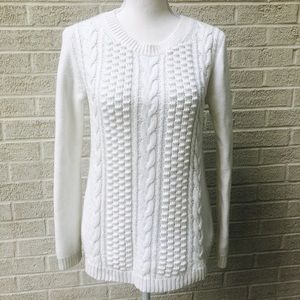 Classic J. Crew Cable Knit Seater Size XS